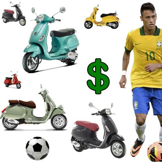 Neymar Vespas