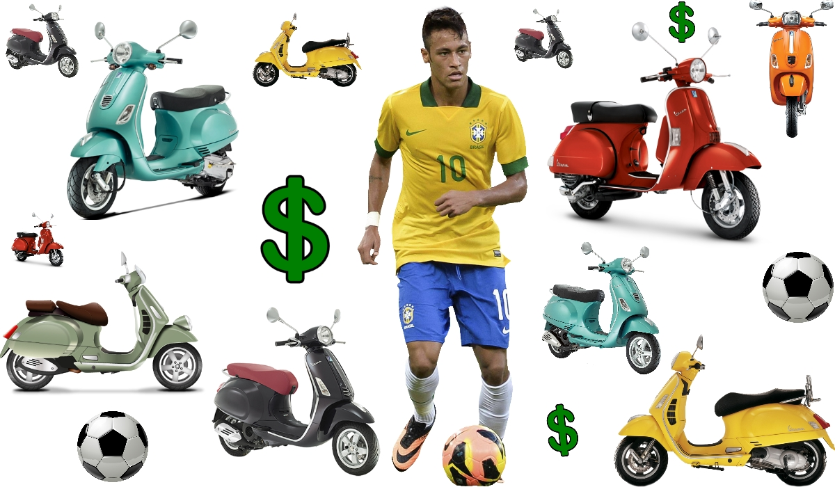 Neymar chegava para encher Portimão de Vespas