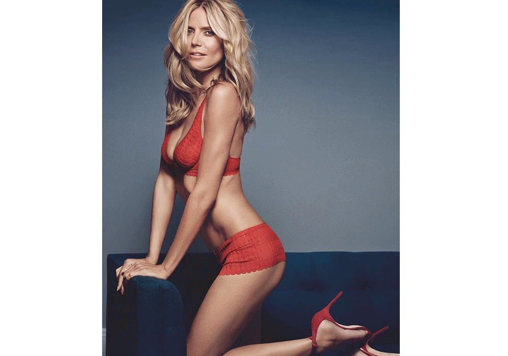 """Heidi """"the body"""" Klum e as pernas de dois milhões"""