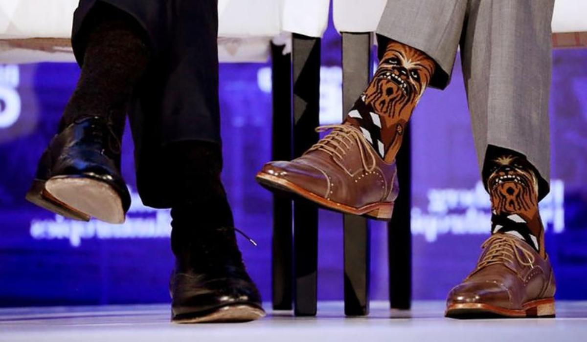 """A """"força"""" está nas meias de Justin Trudeau"""
