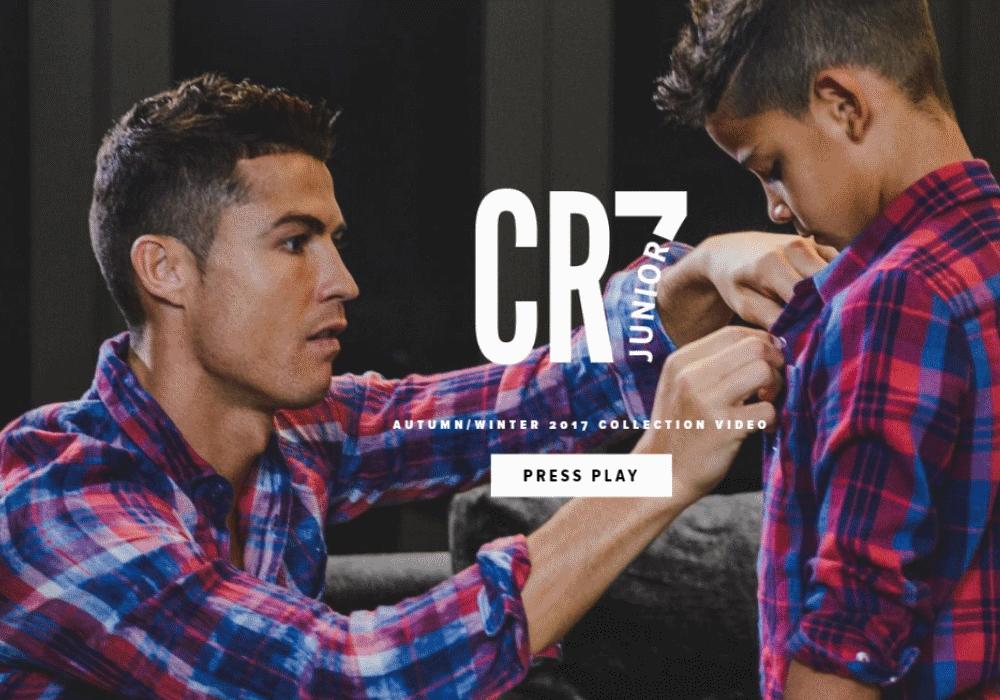 Pais e filhos com o estilo de Cristiano Ronaldo