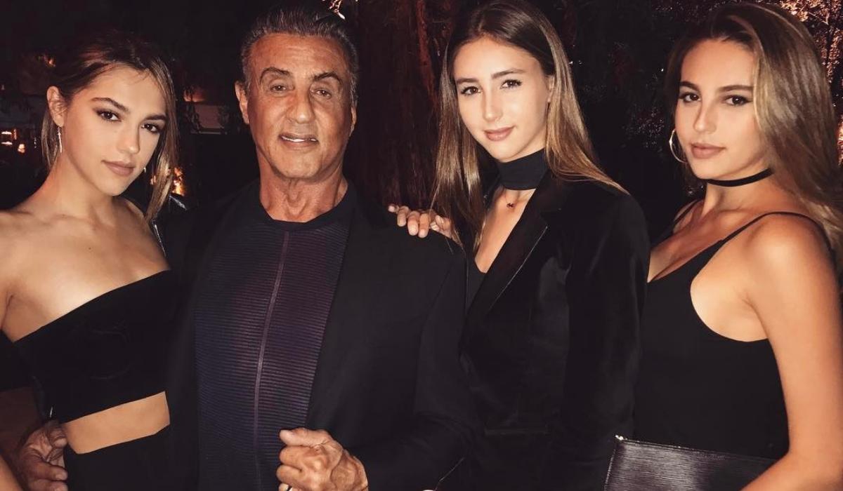 Filhas de Stallone cresceram e ofuscam pai