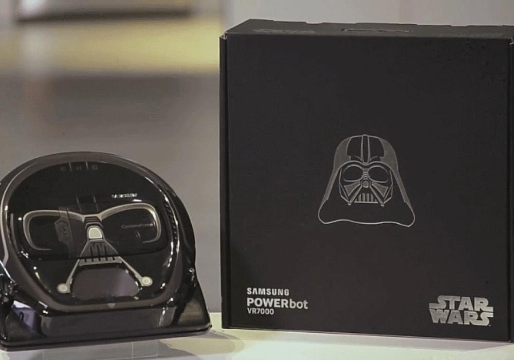 Darth Vader ajuda-te a aspirar o lado negro do pó