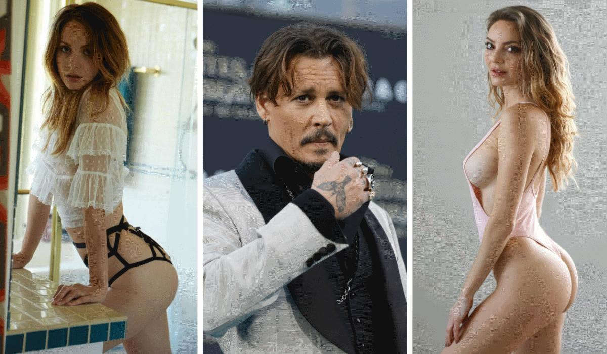 Bailee Cowperthwaite e Jocelyn Binder num escaldante ménage à trois com Johnny Depp