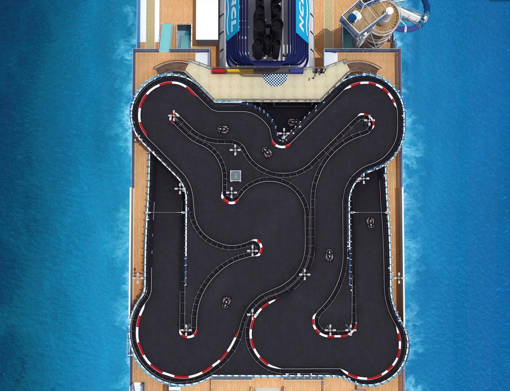 Norwegian Bliss, o cruzeiro onde pode andar de kart e jogar laser tag