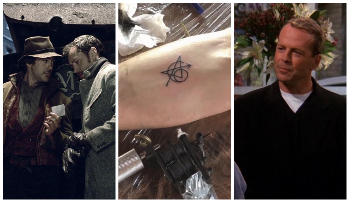 Robert Downey Jr. e Jude Law novamente juntos, Vingadores unidos por tatuagem e a aposta que Bruce Willis perdeu