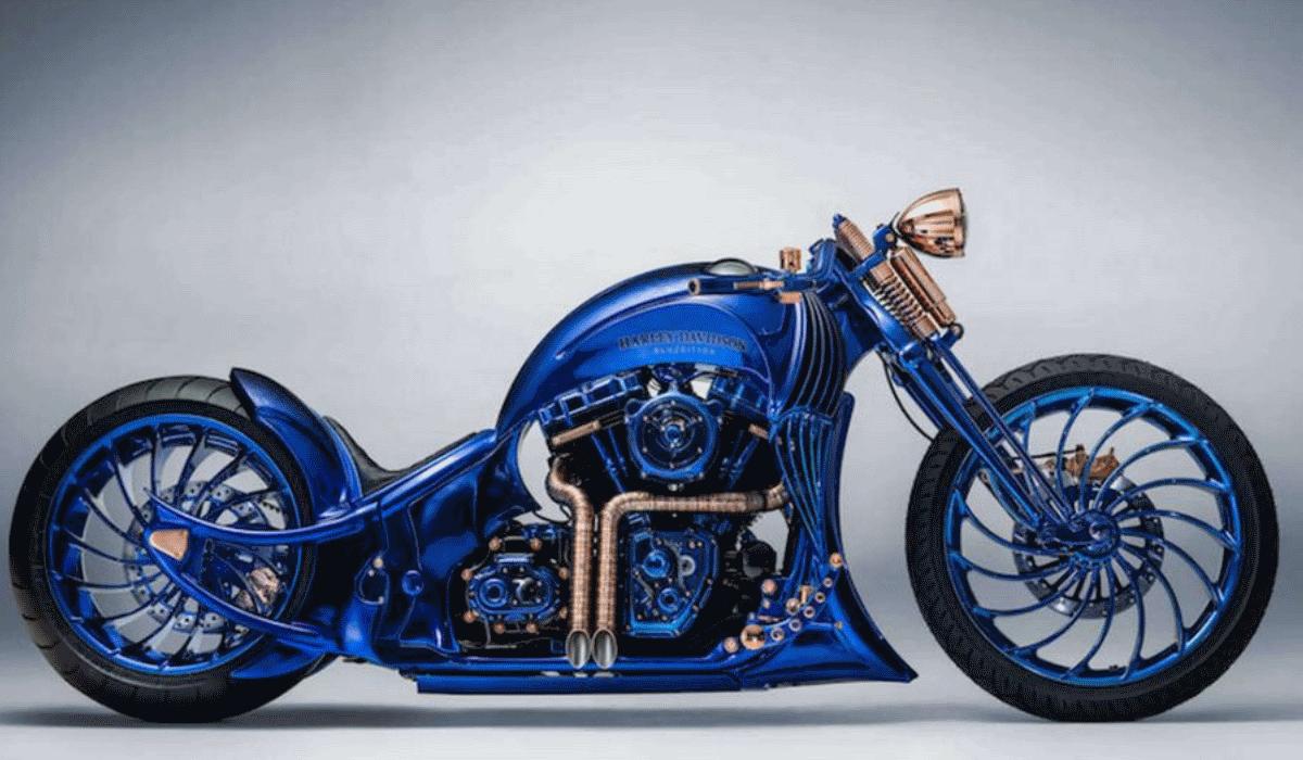 Special Harley-Davidson Blue Edition é a mota mais cara do mundo