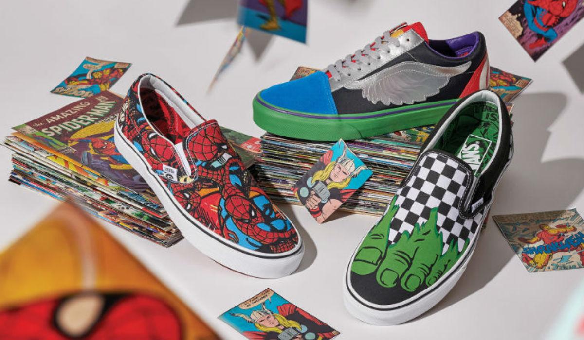 Os super heróis da Marvel inspiram coleção da Vans