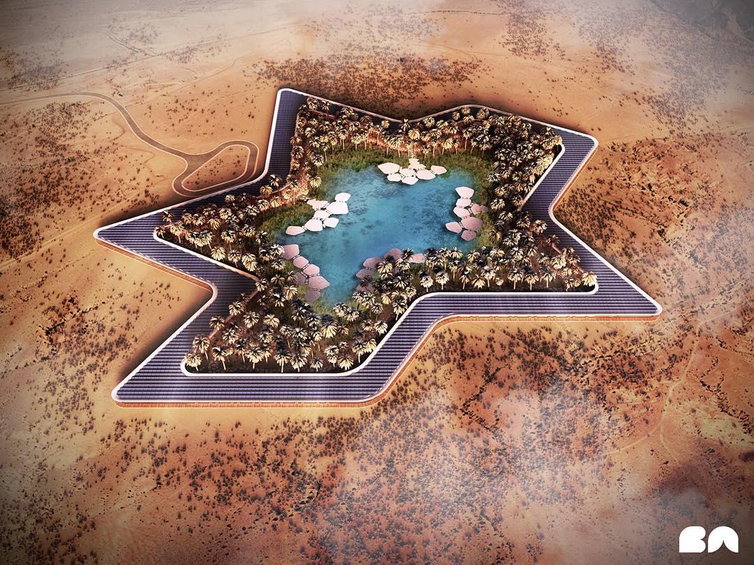 Um oásis no deserto que é amigo do ambiente