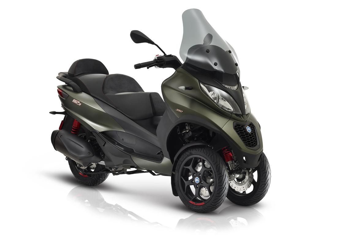 Piaggio atualiza MP3, a primeira scooter do mundo de 3 rodas