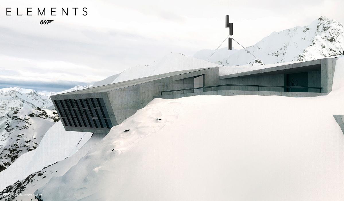 Museu de 007 pendurado numa montanha na Áustria