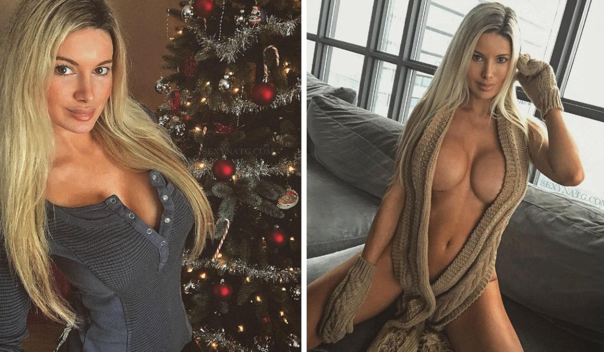 Nunca se viu uma árvore de Natal tão ousada como Natalie Gauvreau, a musa dos Toronto Raptors