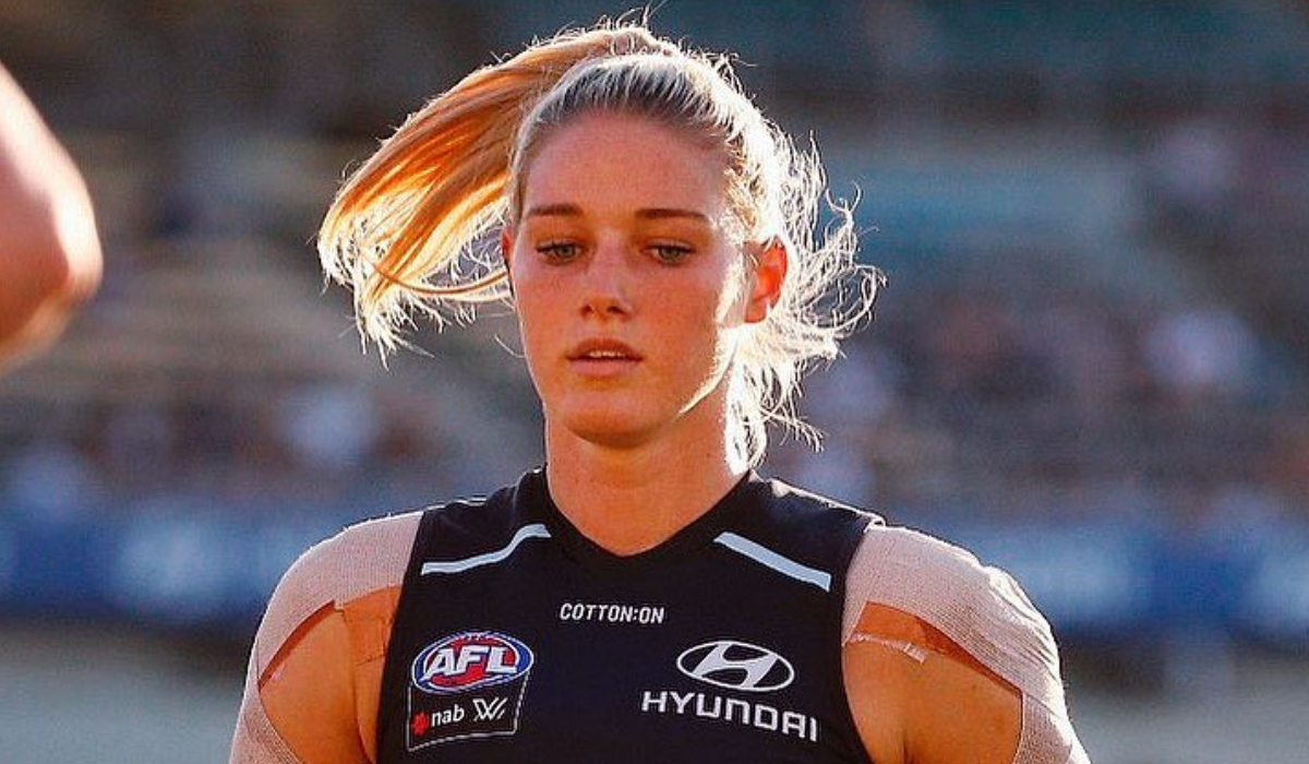 Tayla Harris, a atleta que se sente abusada sexualmente nas redes sociais