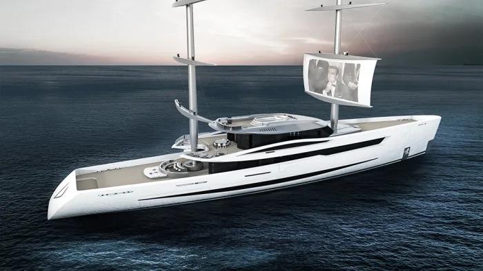 Vela, o iate que permite ter sessões de cinema em alto mar
