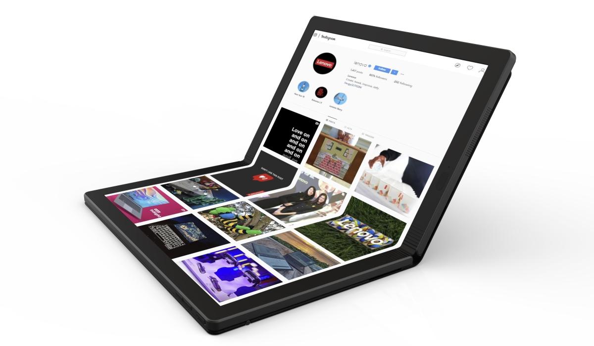 Lenovo anuncia o primeiro portátil dobrável do mundo