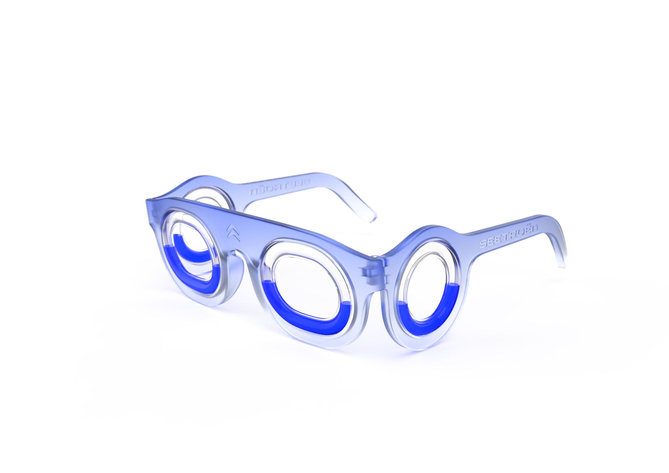Os óculos destinam-se a adultos e crianças a partir dos 10 anos, idade em que o ouvido interno atinge o seu nível máximo de desenvolvimento.