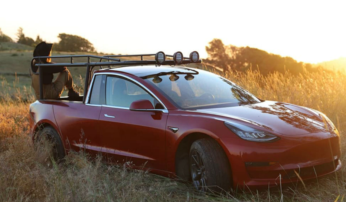 Truckla, como transformar um Tesla Model 3 numa pick-up