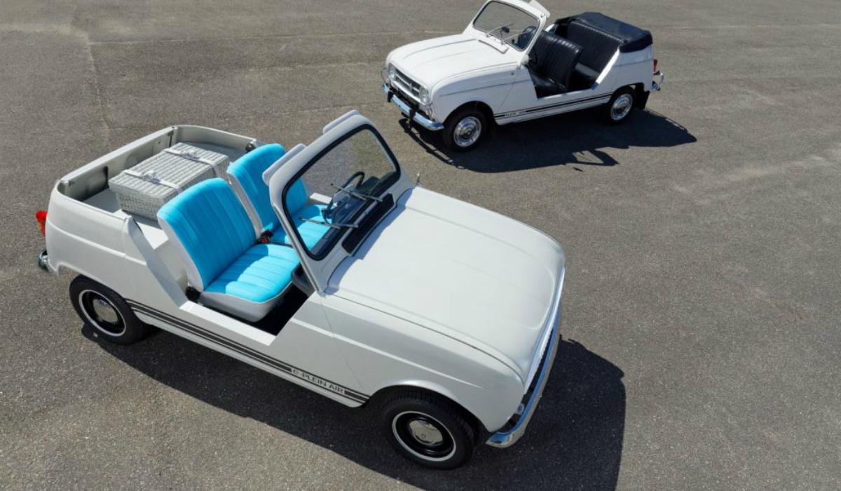 Renault 4L, um ícone que se torna elétrico e descapotável
