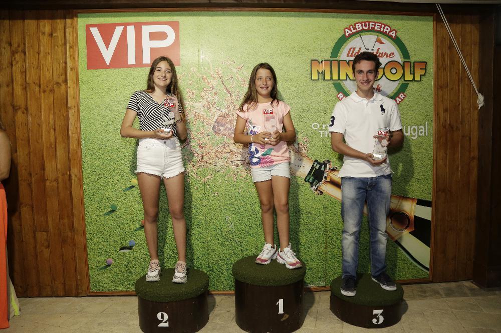 Os grandes vencedores do II Troféu VIP de Minigolf