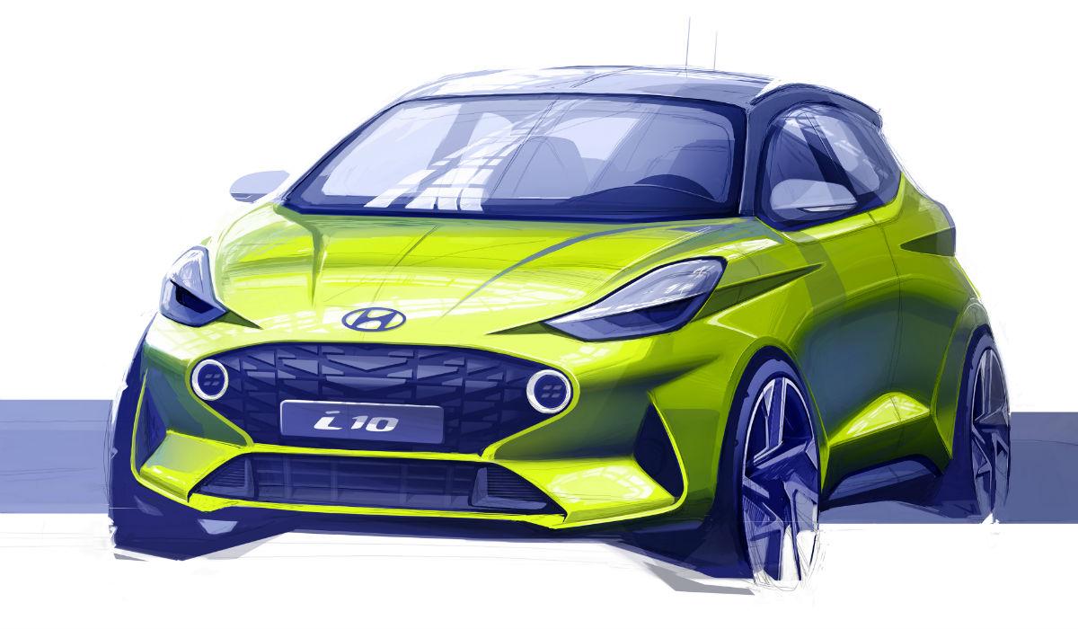 Hyundai i10: esboço do novo modelo revelado antes da sua apresentação