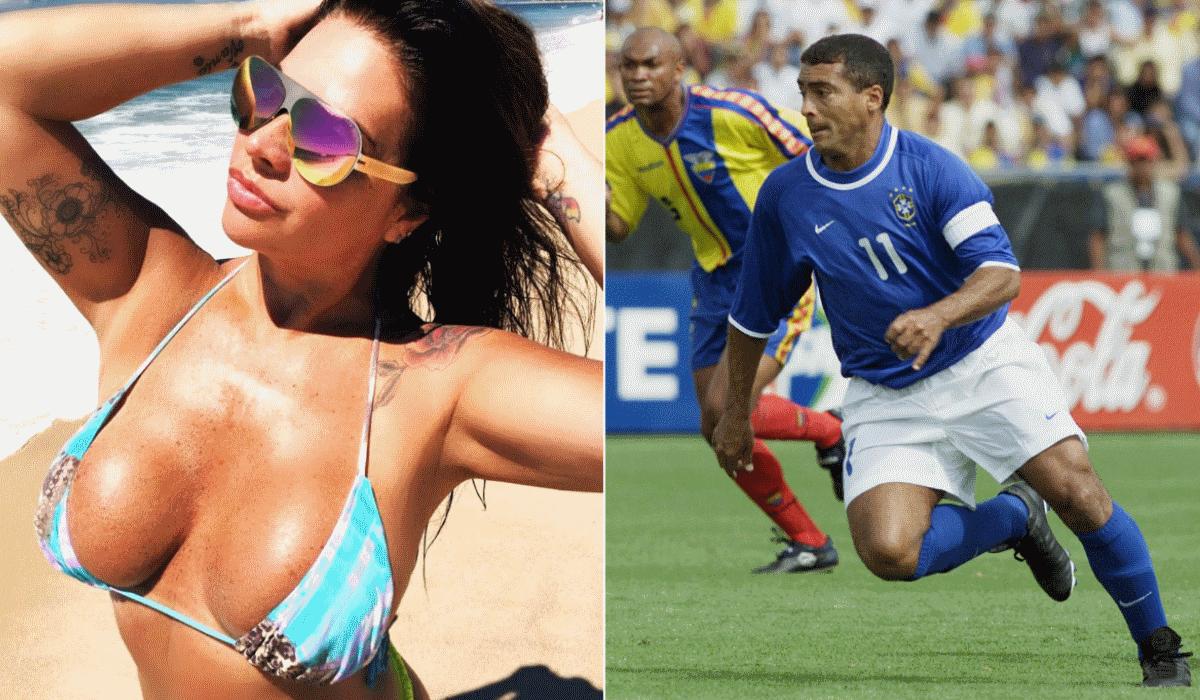 Solange Gomes, a modelo com quem Romário não conseguiu marcar golo