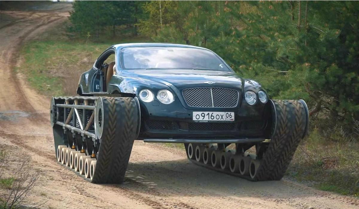 Russos tornam Bentley Continental GT num tanque