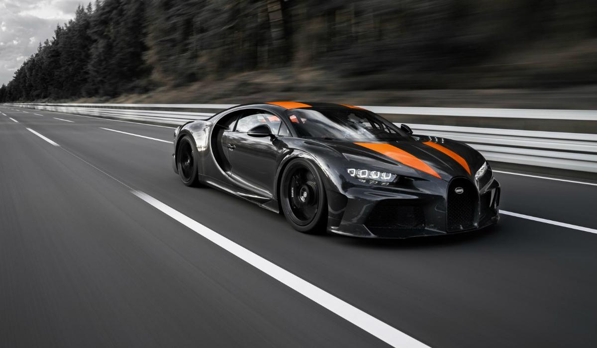 Bugatti Chiron atinge velocidade máxima de quase 500 km/h