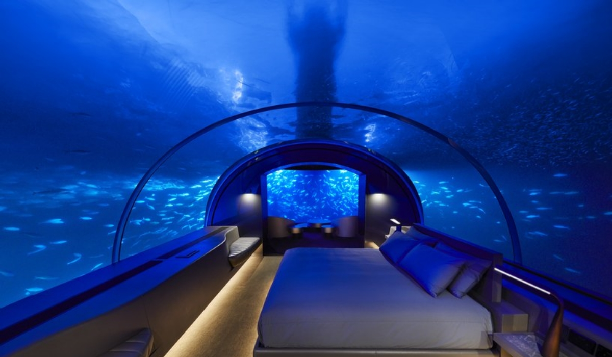 Nestes 5 hotéis pode passar a noite debaixo de água