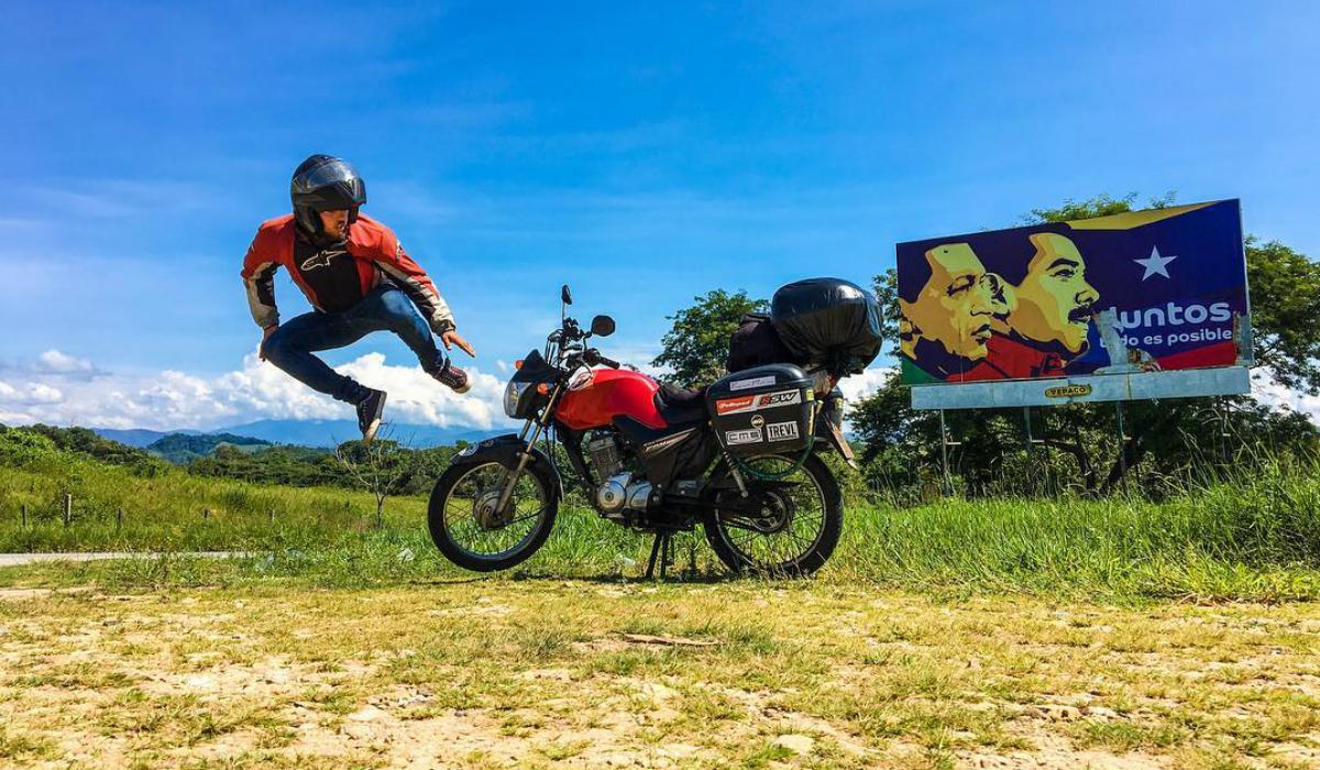 André Sousa, o português que quer dar a volta ao mundo numa minimoto