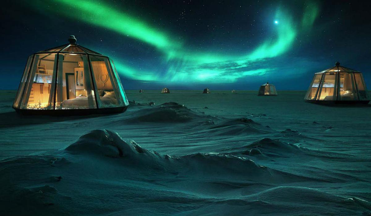 North Pole Igloo, o hotel que vai estar iluminado por auroras boreais