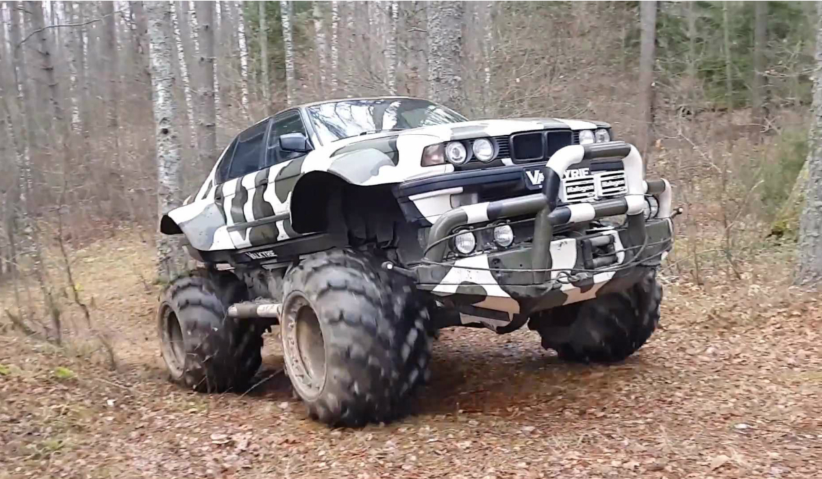 BMW Série 7 é transformado num monster truck para passeios na floresta