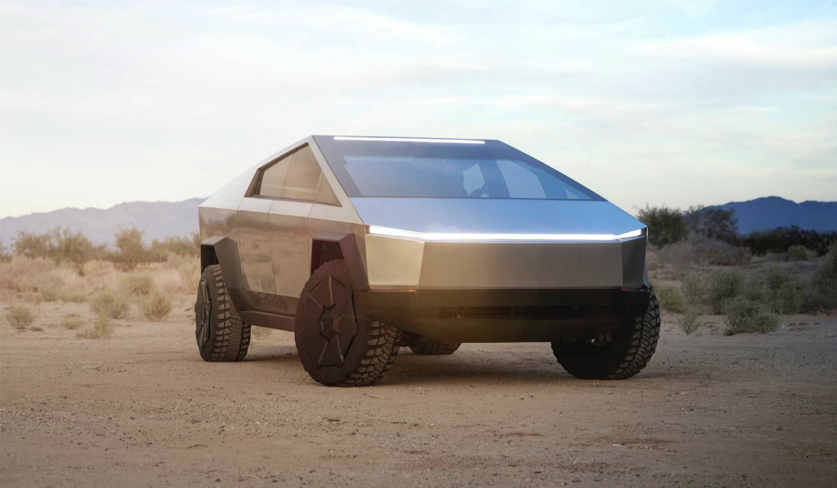 Tesla Cybertruck surpreende com imagem futurista para andar em Terra e Marte