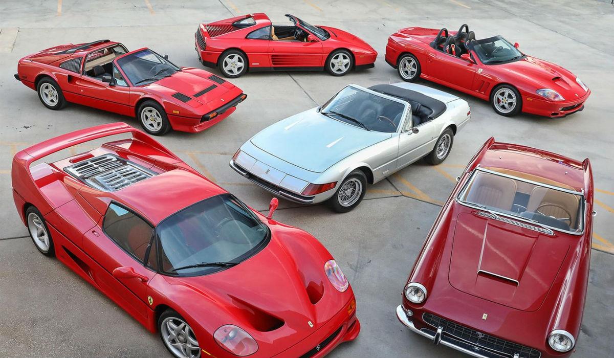 Coleção de raros Ferrari descapotáveis vai a leilão