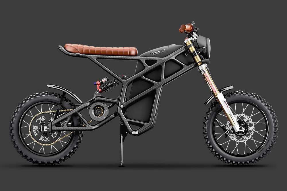 Esta moto elétrica é feita em fibra de carbono e chega aos 100 km/h