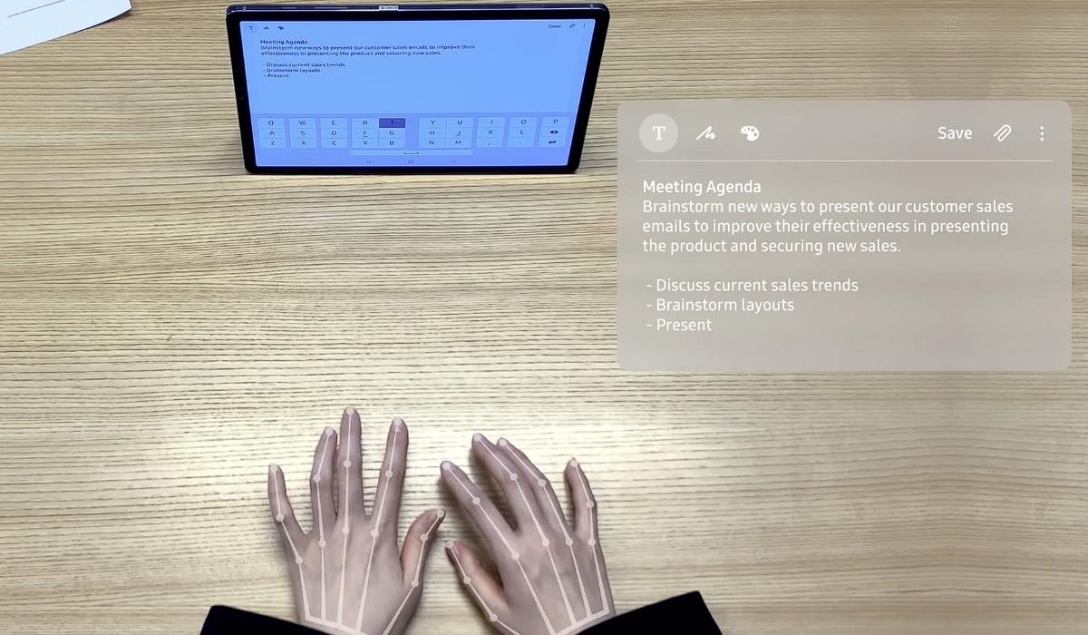 SelfieType, o teclado invisível da Samsung para smartphones e tablets