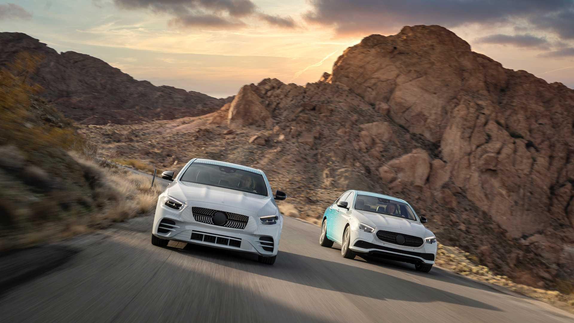 Mercedes-Benz mostra a atualização do Classe E ainda camuflado
