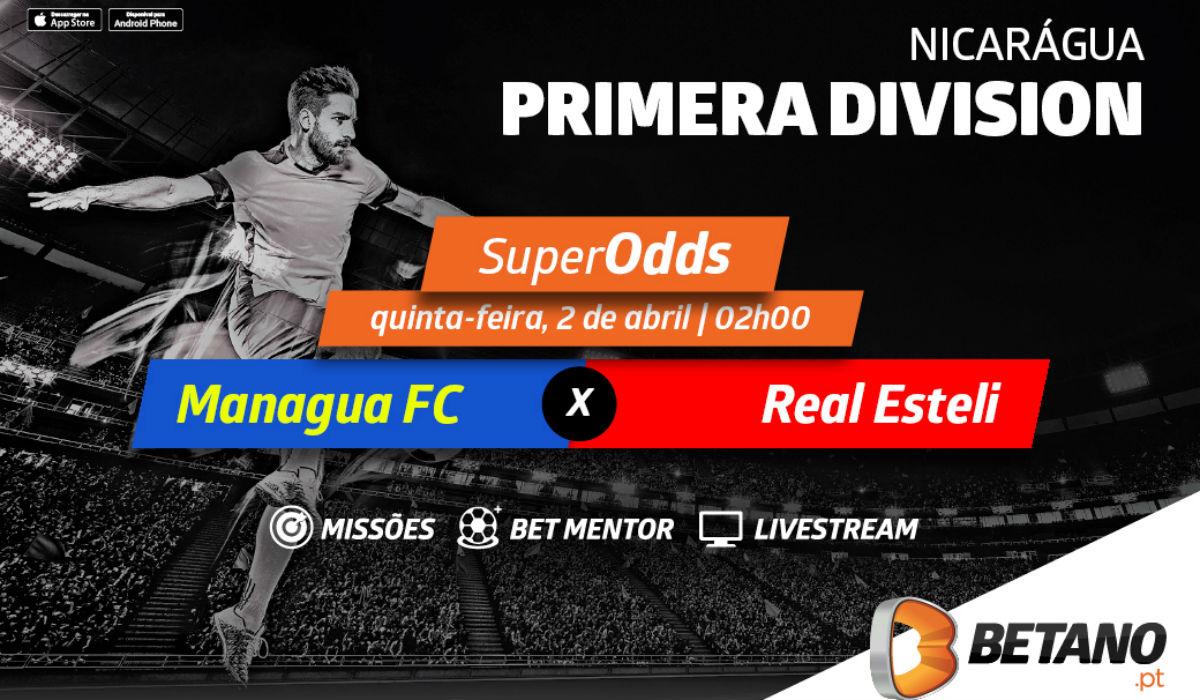 SuperOdds na Betano.pt para o jogo grande na Nicarágua