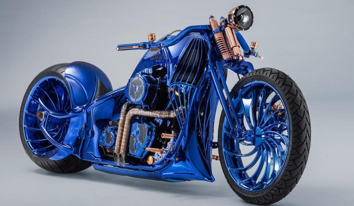 360 diamantes banhados a ouro tornam esta Harley-Davidson a mais cara do mundo