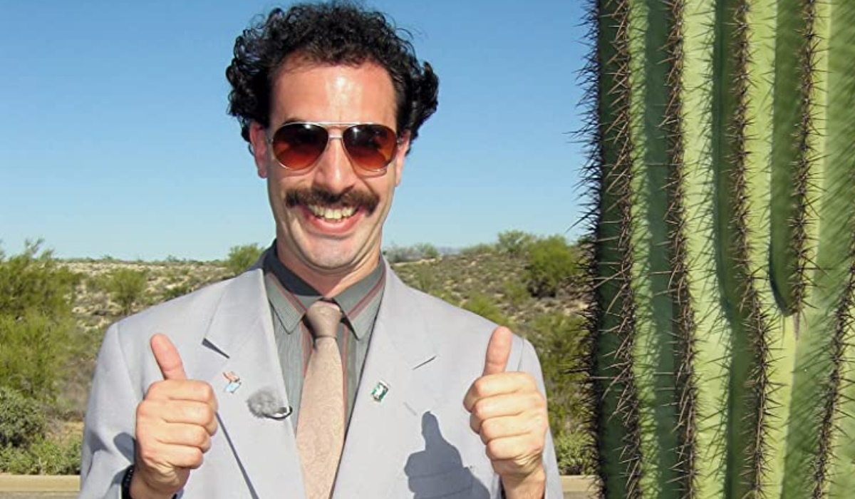 Sacha Baron Cohen conta como temeu pela vida nas gravações de Borat