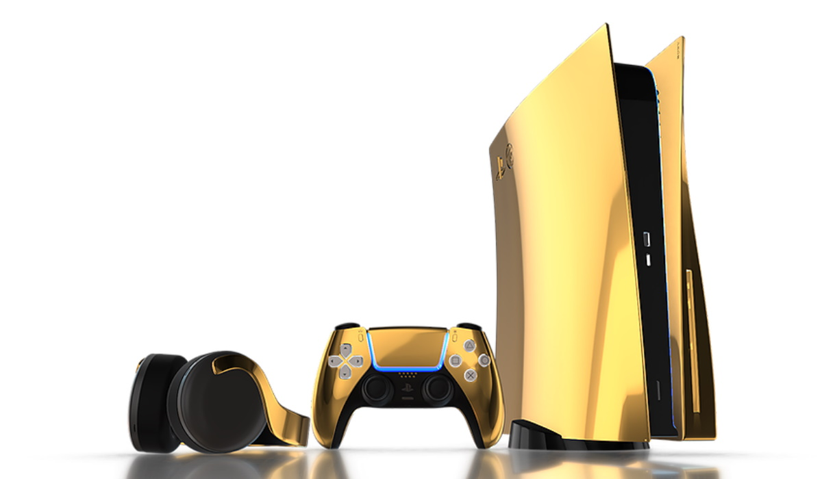 PlayStation 5 feita de ouro de 24k está à distância de muitos euros