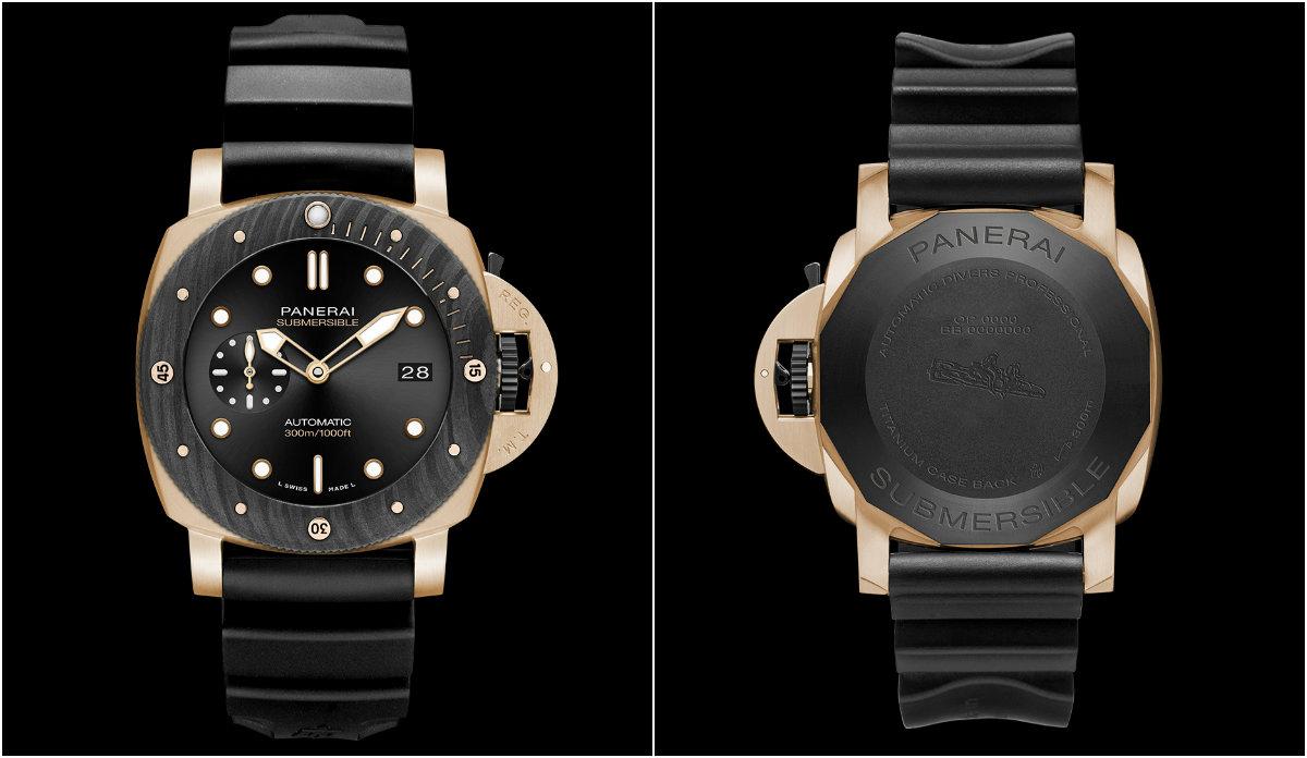 Novo relógio de mergulho da Panerai combina ouro com fibra de carbono
