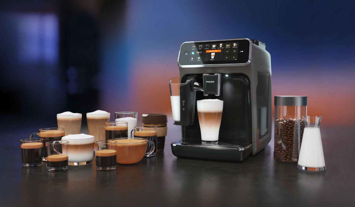 12 variedades de café e bebidas com leite à distância de um botão