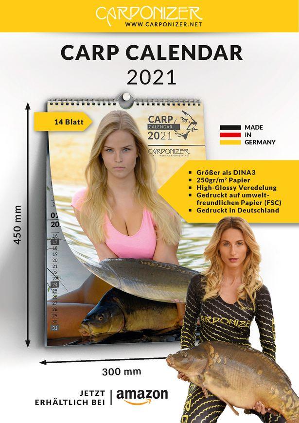 Carponizer, o calendário que mistura modelos seminuas com peixes